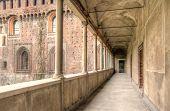 Detail Of Sforzesco Castle In Milan