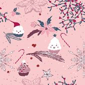 sweet winter seamless pattern