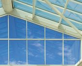 Glass Wall - Blue Sky