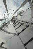 Gray metal stairway