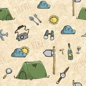 Pattern With Expedition Tents.
