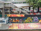 Urban Graffiti Along Klang River,malaysia