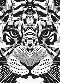 tiger psychedelic drawing