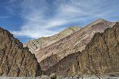 Colorful Huge Rocky Mountain Walls Of Majestic Himalayas