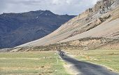 picture of manali-leh road  - Biker Riding At Valley In Himalaya Mountains - JPG