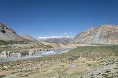 Big Canyon Among Himalaya Mountains