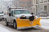 Truck With Snowplow Fitted In Toronto