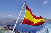 Spanish Flag On A Mast