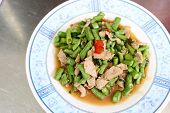 Puff Vegetables Beans With Pork .