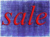 Red Sale Tag On Purple.