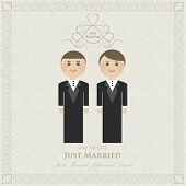 wedding invitation flat gay. wedding card flat. Gay marriage