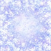 stock photo of twinkle  - bokeh snowflakes lights abstract twinkled bright for festive christmas background - JPG