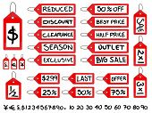 Handwritten Sale Tags