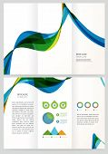 Abstract Geometric Vector Brochure Template.