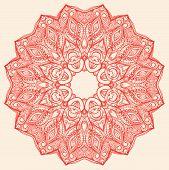 Round Red Pattern