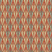 Retro Pattern With Leaves