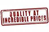 Quality At Incredible Prices Stamp