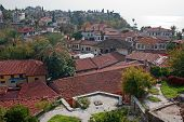 View Over Rooftops Of Antalya Old Town Of Kaleici