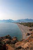 View Of Antalya Beach Turkey