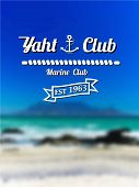 The Emblem Of The Yacht Club With A Blurred Background Of Cape Town