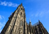 image of dom  - The Dom church in the city Cologne Germany - JPG