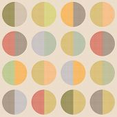 Retro Abstract Circle Seamless Pattern Vintage Background