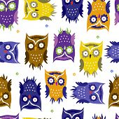 Pattern With Cute Owls
