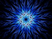 Star Shaped Blue Glowing Fractal