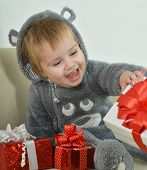 Little Boy with gifts