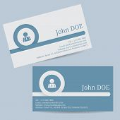Business Card With Curling Arrow