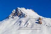 Avalanche fences, Tignes, France