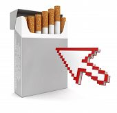 Cursor and Cigarette Pack (clipping path included)