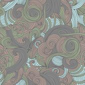 Abstract Seamless Hand-drawn Wave Pattern.