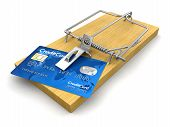 Mousetrap with Credit Cards (clipping path included)