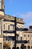 Town centre signpost, Buxton.