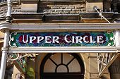 Buxton Opera House Upper Circle sign.