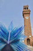 Blue Murano Glass Sculpture