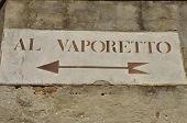 Vaporeto Sign