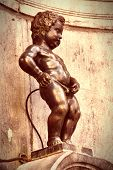 image of peeing  - Famous statue of peeing boy in Brussels Belgium - JPG