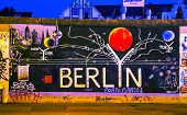 The Berlin Wall (berliner Mauer) With Grafitti
