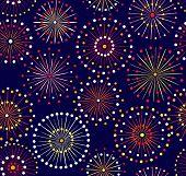 Japanese festival seamless night fireworks pattern