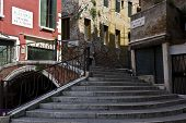 Stair and bridge in Venice