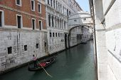 The Bridge Of Sighs and a gondolier