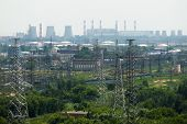 stock photo of electric station  - Extreme industry area in Moscow district Kapotnya - JPG