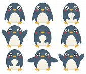 Penguin Emoticon Set