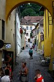 Narrow Street In Sighisoara