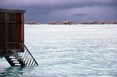 Timber Steps To Water At Island Resort