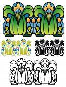 Art Nouveau style border ornament