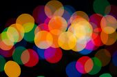 Festive Background With Colorful Lights