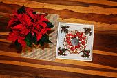 Advent Wreath With Poinsettia